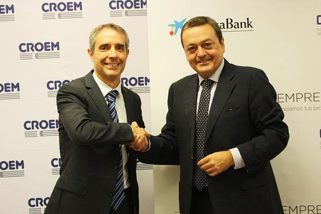 La CROEM se une a CaixaBank para aportar 11.000 millones a empresas