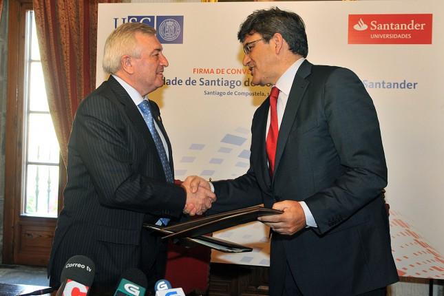 Banco Santander y USC renuevan su colaboración institucional