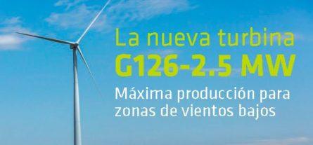 Gamesa crea una turbina eficiente en zonas de vientos bajos