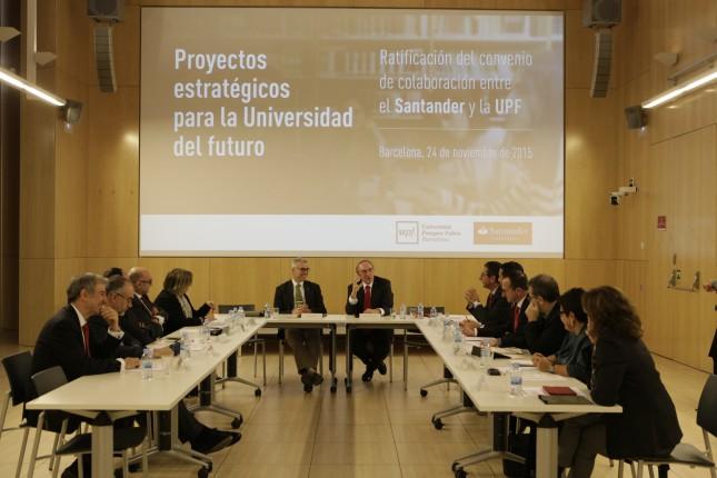 Banco Santander refuerza su acuerdo de colaboración con la Universidad Pompeu Fabra