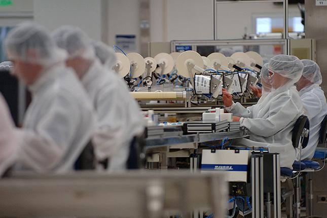La producción industrial de la eurozona cae un 2,2% en octubre