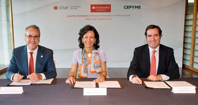 Banco Santander concede 5.000 becas de prácticas en PYMEs a universitarios
