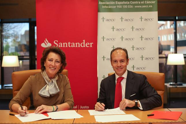 Banco Santander colabora en la investigación contra el cáncer