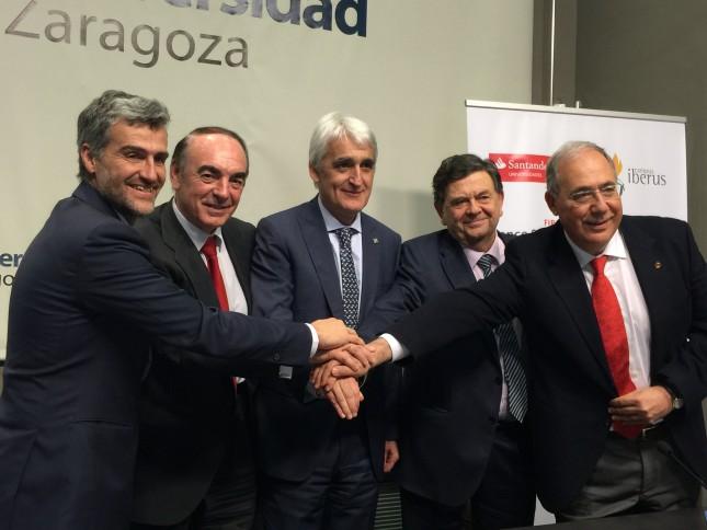 Banco Santander y Campus Iberus crearán equipos punteros en I+D+i en Tecnologías para la Salud