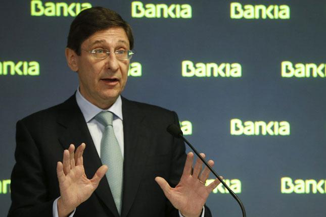 Goirigolzarri cumple cinco años en Bankia