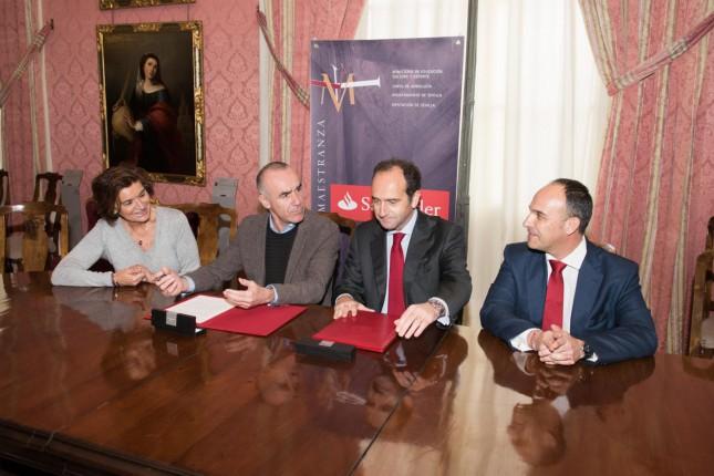 Banco Santander y Teatro Maestranza firman el convenio de patrocinio