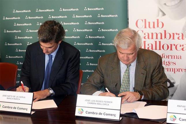 Banca March renueva convenio con la Cámara de Comercio de Mallorca