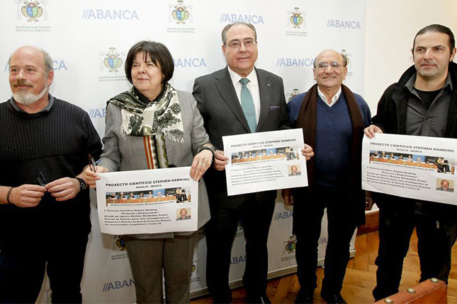Abanca e Ignacio Martínez apoyan el Proxecto Científico Stephen Hawking