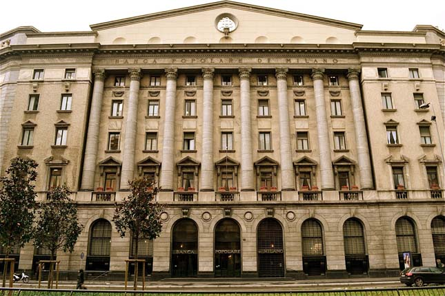 Banco Popolare sube un 4% tras su fusión con BPM