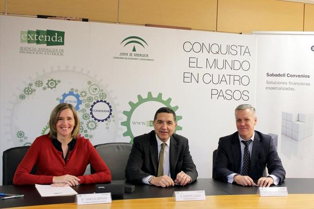 Banco Sabadell y Extenda facilitan servicios financieros en Andalucía