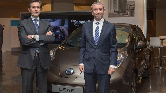 Banco Sabadell y Nissan potencian el uso del vehículo eléctrico en las empresas