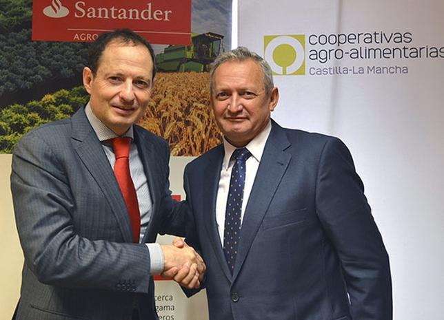 Banco Santander renueva su colaboración con Cooperativas Agro-alimentarias Castilla-La Mancha
