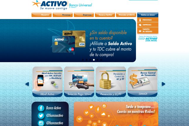 Banco Activo presenta nueva página web