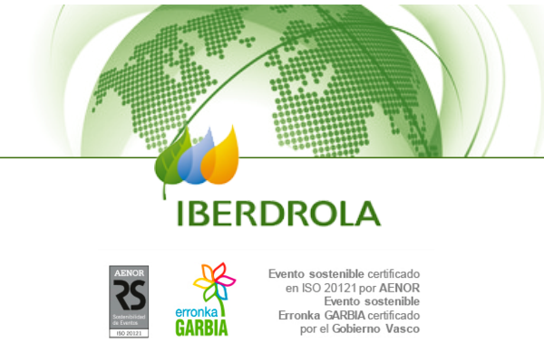 Iberdrola, primera española en recibir el certificado AENOR de Evento Sostenible