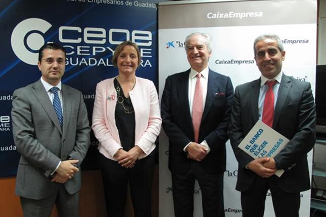 CaixaBank y CEOE-CEPYME Guadalajara fortalecen el sector empresarial
