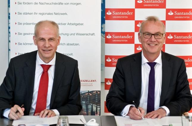 Banco Santander amplía su colaboración con la Universidad de Bremen