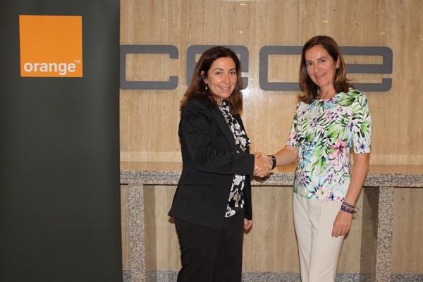 Orange firma acuerdo de integración con la CEOE