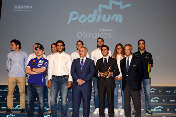 Podium (Telefónica) lleva a 21 deportistas a los Juegos Olímpicos
