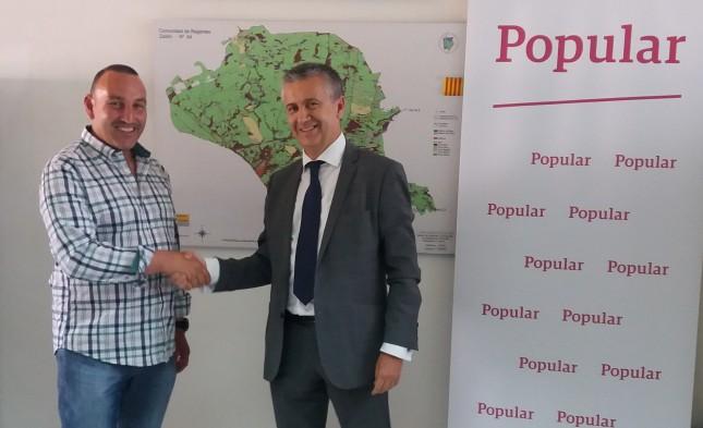 Banco Popular reforzará la financiación de los agricultores de Zaidín