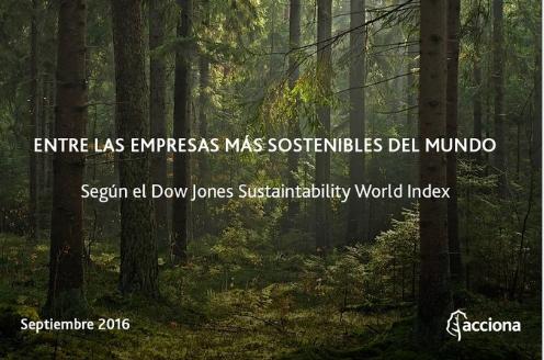 Acciona entra en el Dow Jones Sustainability Index Europe