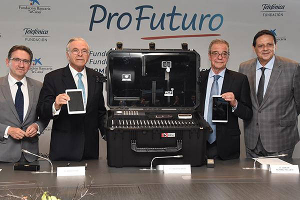 César Alierta expone ProFuturo, proyecto educativo para desfavorecidos
