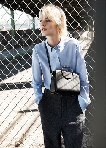 moda de zara - camisas azules
