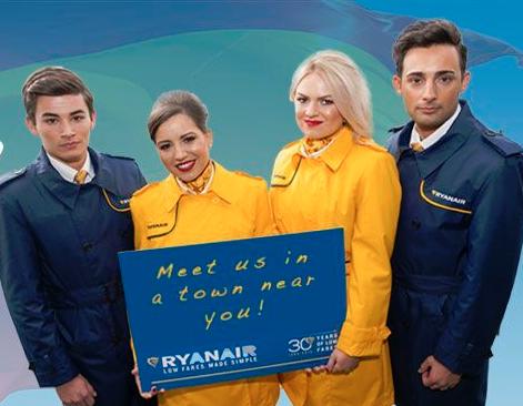 Ryanair inicia convocatoria de empleo para tripulantes de cabina