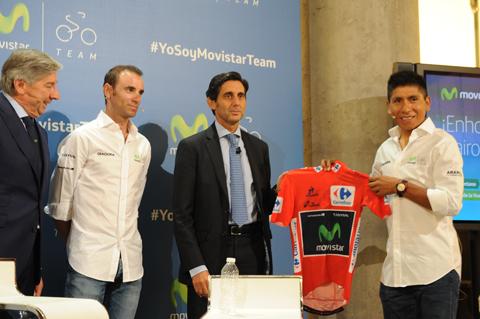 Telefónica renueva el patrocinio del Movistar Team hasta 2019