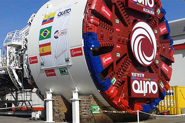 acciona-alista-tuneladora-que-construira-metro-de-quito