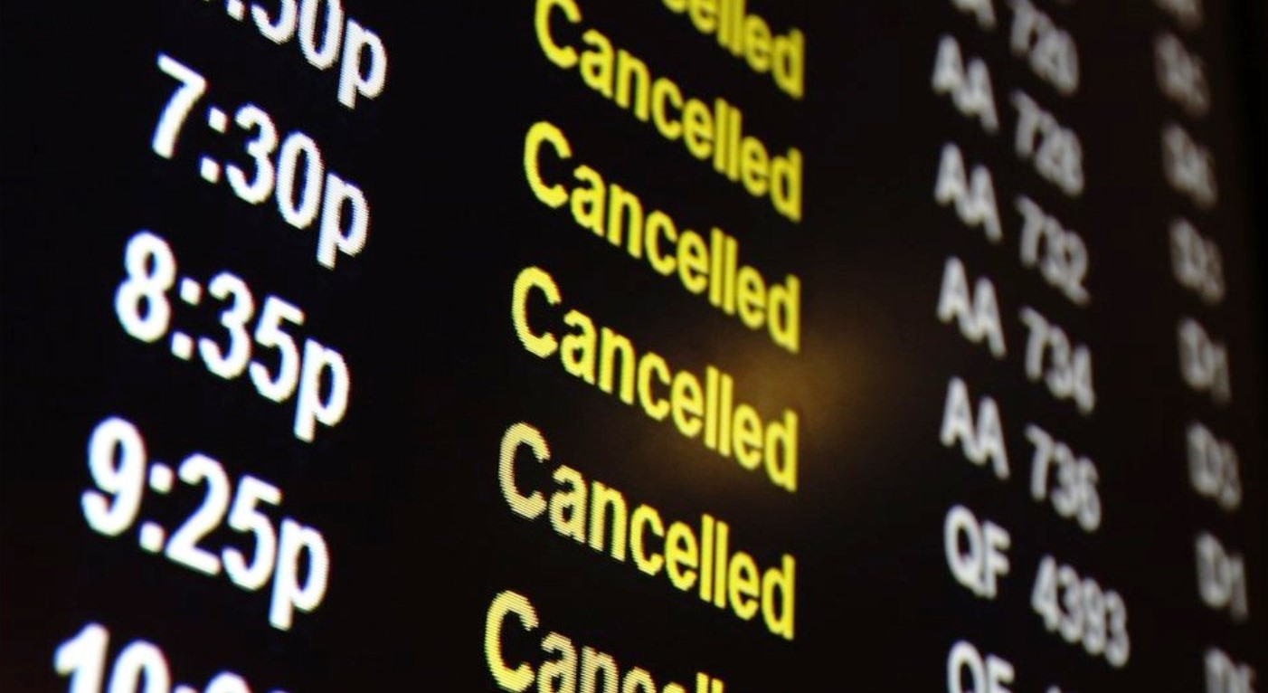 Amadeus informe vuelos cancelados