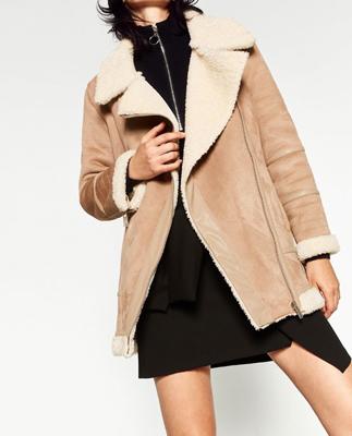 moda de zara - chaqueta borrego