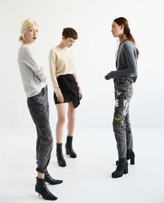 moda zara - denim