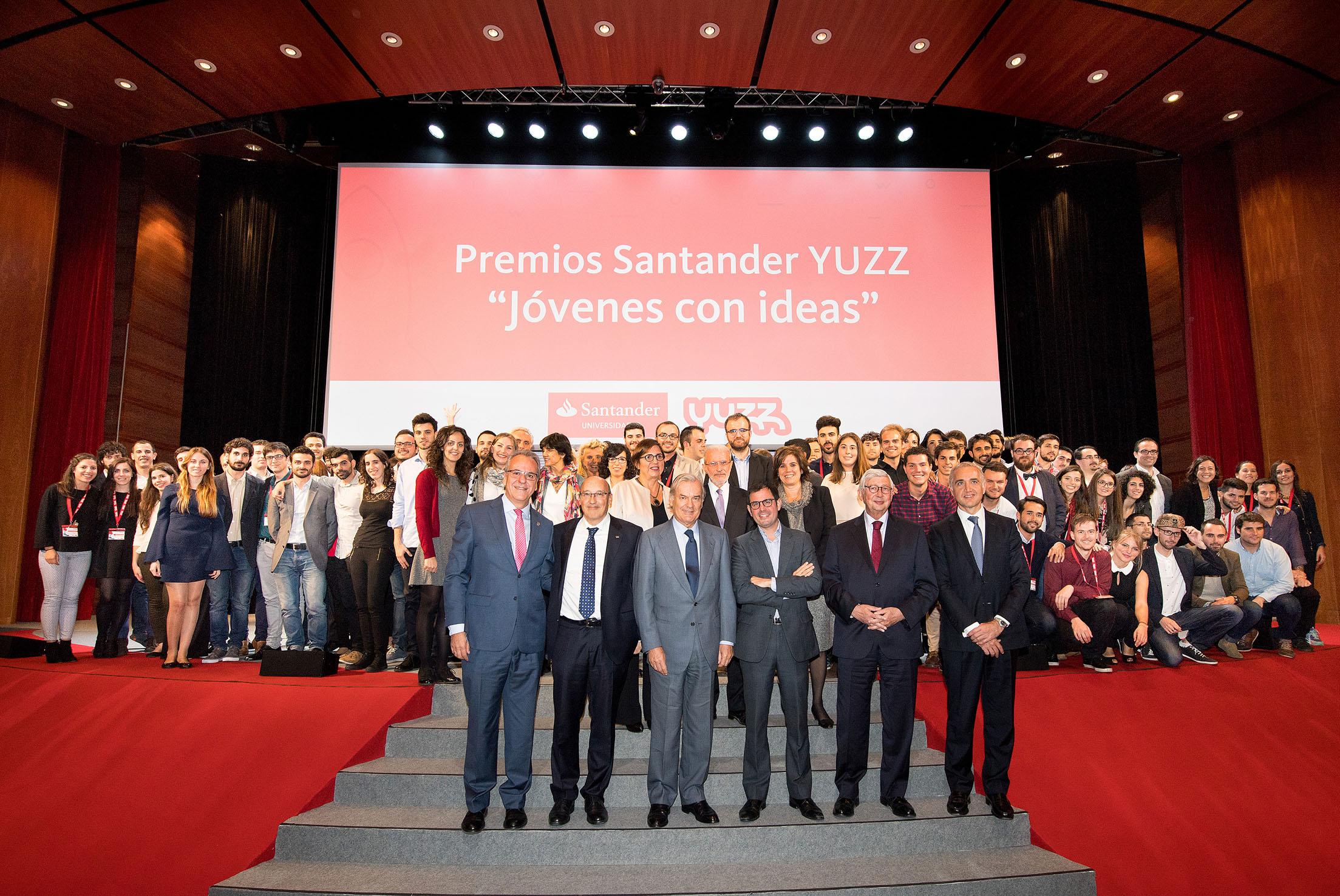 Banco Santander elige a los ganadores del VII Santander YUZZ 'Jóvenes con ideas'
