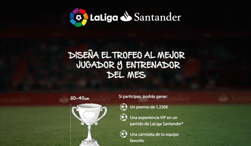 Banco Santander lleva a concurso el diseño del Trofeo al Mejor Jugador y Entrenador de LaLiga