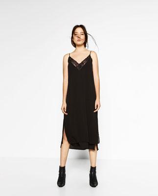 vestido de zara lencero