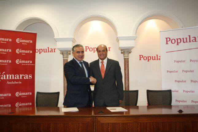 Banco Popular y el Consejo Andaluz de Cámaras de Comercio firman un convenio de colaboración