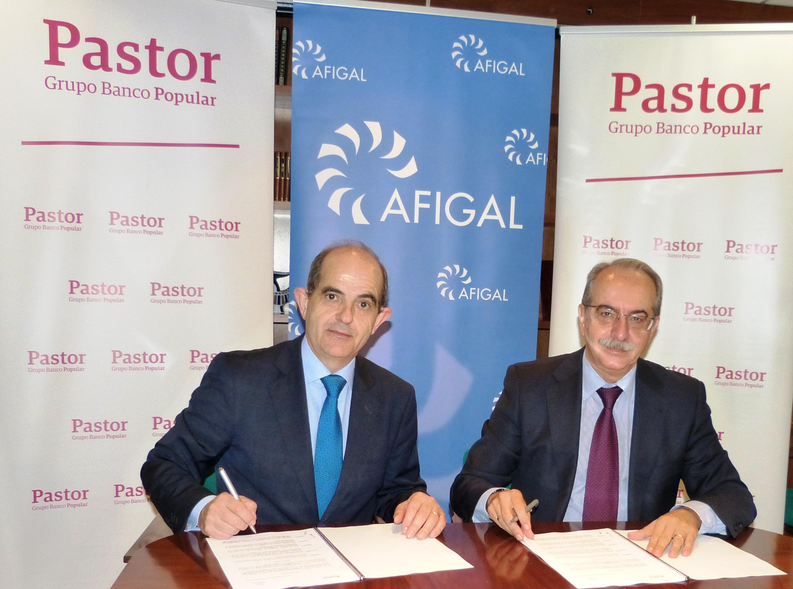 Banco Pastor y Afigal renuevan su colaboración