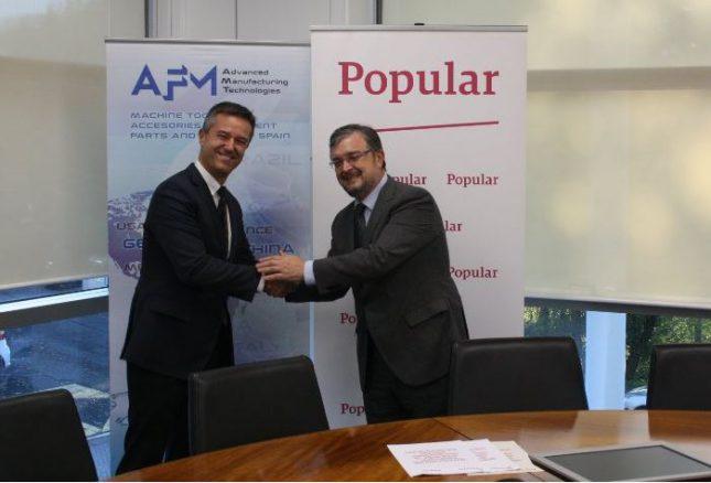 Banco Popular, nuevo socio colaborador de AFM Advanced Manufacturing Technologies