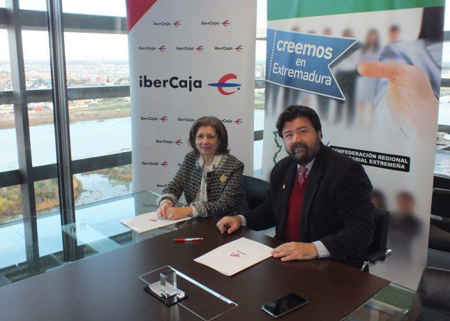 Ibercaja y la CREEX apuestan por el desarrollo del tejido empresarial de Extermadura