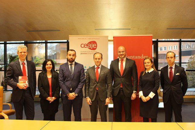 Banco Santander y CEAJE renuevan su convenio de apoyo a jóvenes empresarios