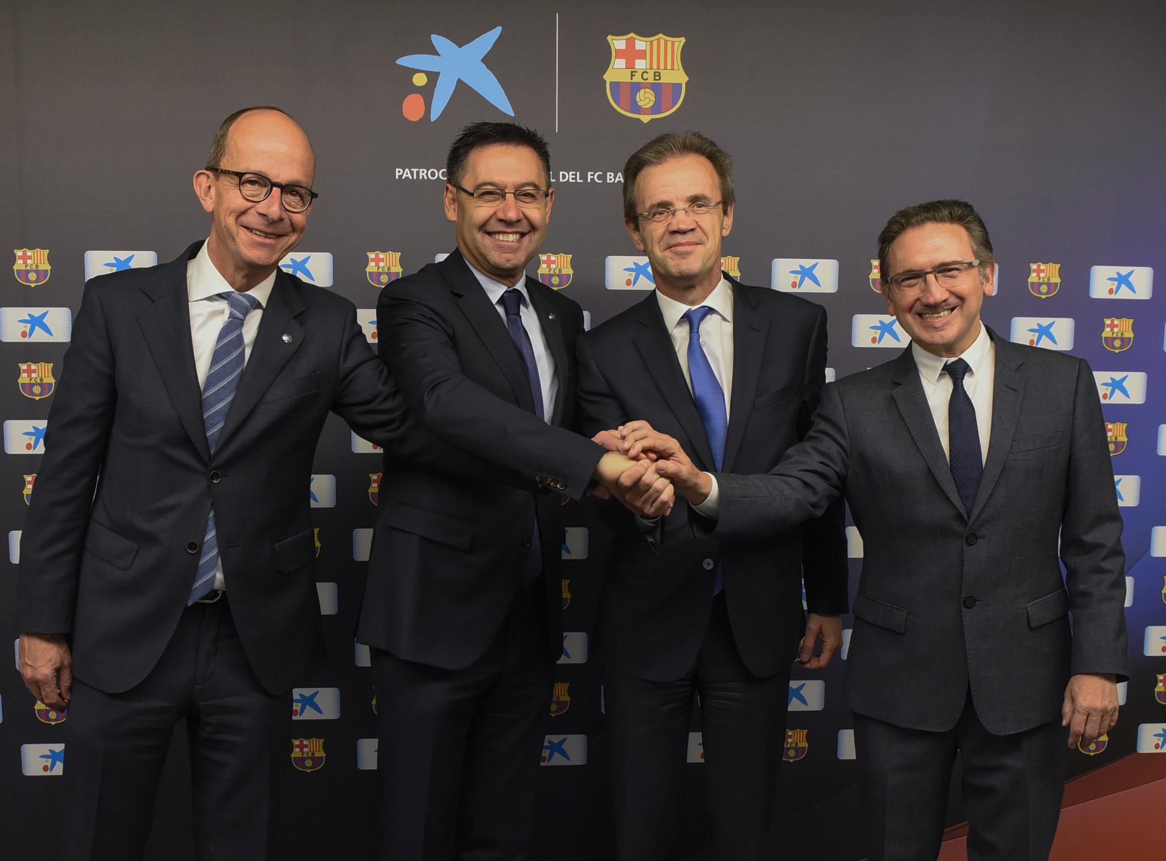 CaixaBank, la Caixa y el FC Barcelona renuevan su acuerdo de colaboración