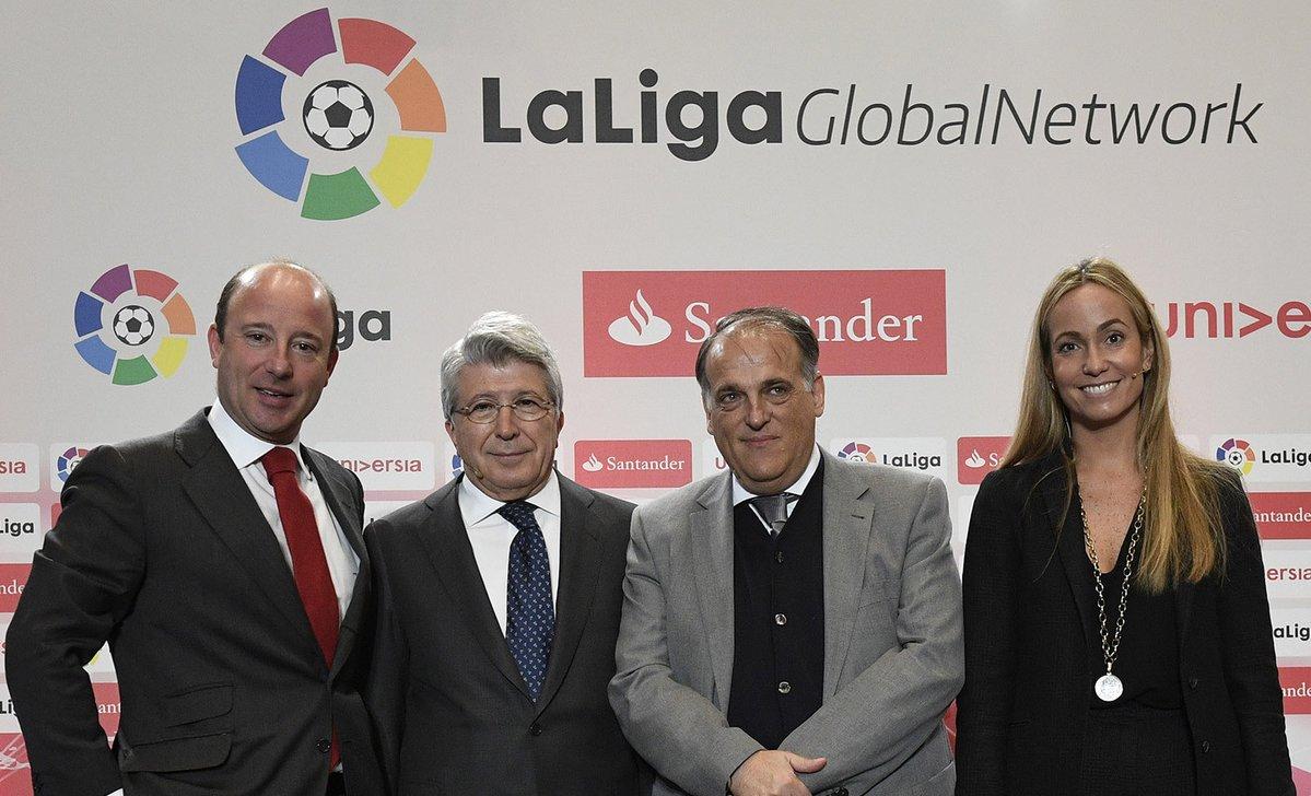 Banco Santander presenta la fase final de LaLiga Global Network