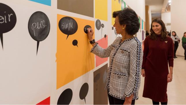 Ana Botín inaugura la Colección Coppel en la Fundación Banco Santander