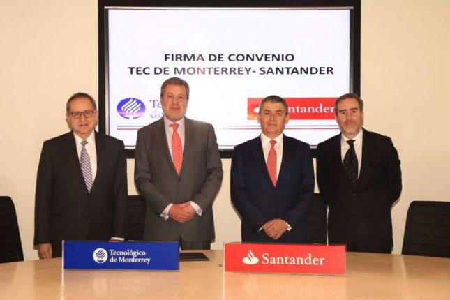 Banco Santander y el Tec de Monterrey reafirman trabajar a favor de la educación superior