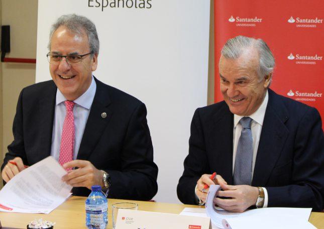 Banco Santander renueva su convenido con Crue Universidades Españolas