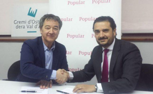 Banco Popular y el Grèmi d'Ostalaria dera Val d'Aran firman un acuerdo de colaboración