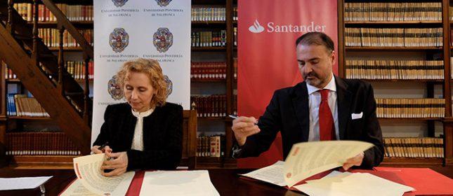 Banco Santander y la Universidad Pontificia de Salamanca renuevan su convenio de colaboración en innovación y emprendimiento