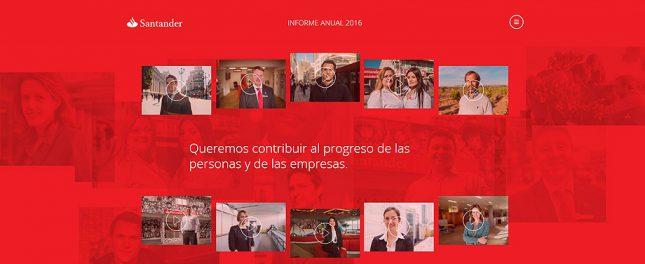 Banco Santander presenta su Memoria Online Santander 2016