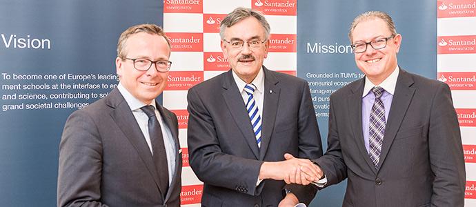 Banco Santander y la Universidad Técnica de Múnich firman acuerdo de cooperación