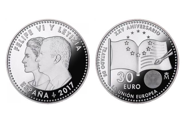 La Real Casa de la Moneda acuña moneda de la firma del Tratado de la UE